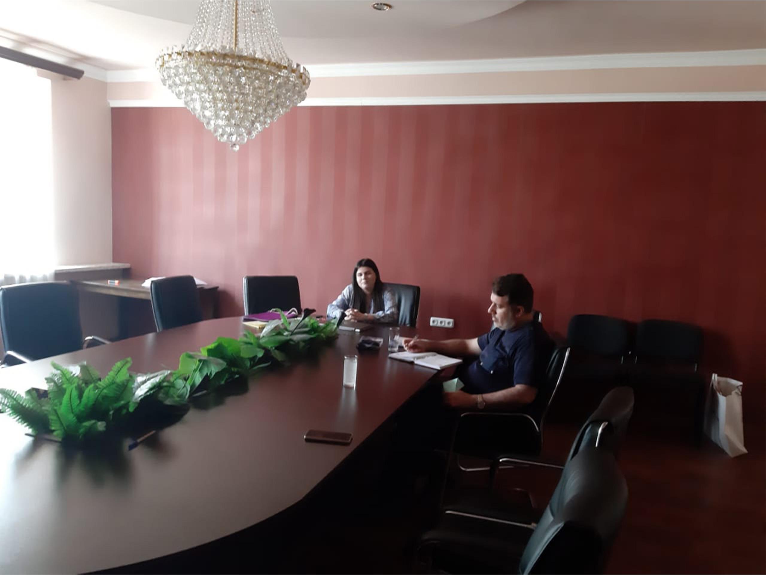 نشست مدیر عامل زینو تجارت با خانم آزا تاجر ارمنستانی در ایروان 1400/06/04