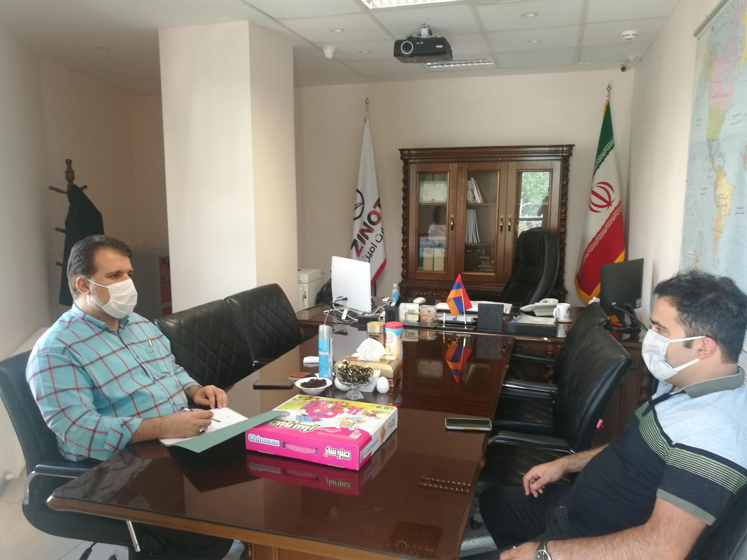 نشست با آقای فغانی مدیر عامل مجموعه تولیدی تابا