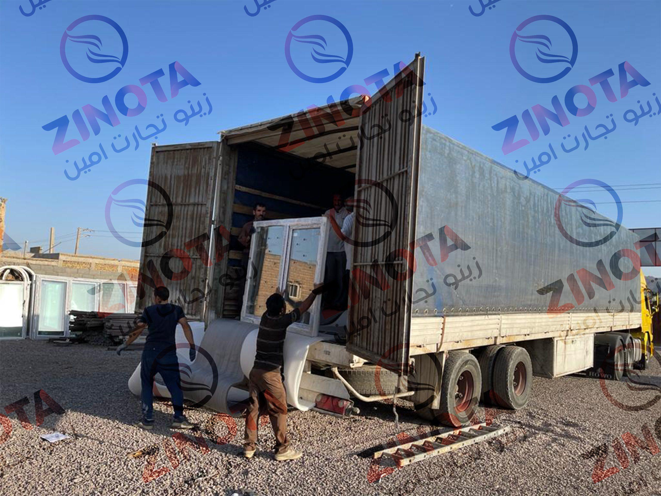 محموله ارسالی مصالح ساختمانی به جمهوری ارمنستان